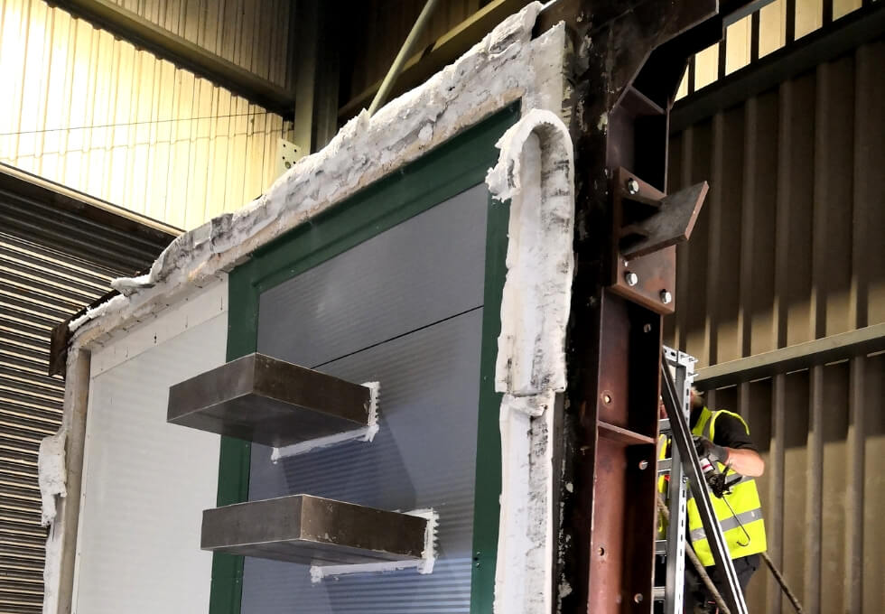 Fire Test to determine the performance of Fire Walls with Penetration Seals