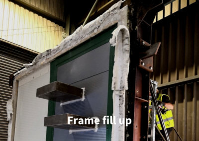 2a. Fire Test Frame fill up gerco-fas