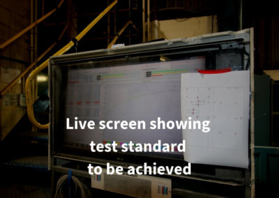 5. Live screen showing test standard to be achieved. Gerco-Fas