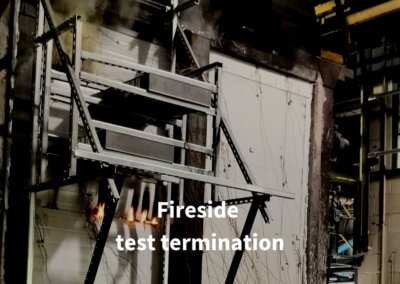 7a. Fireside test termination. Gerco-Fas